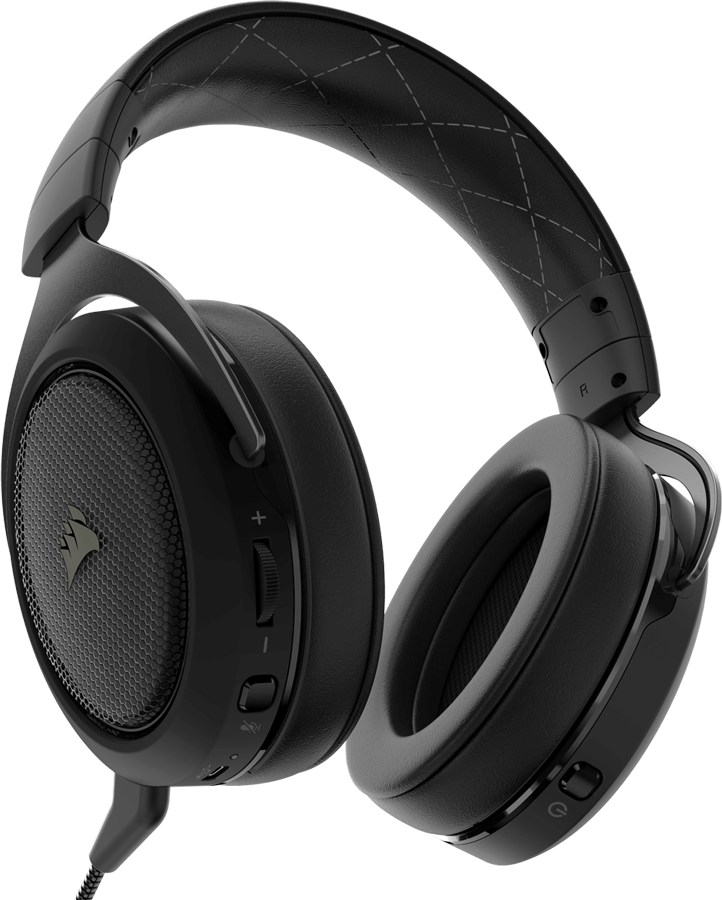 Vue de dos du Casque Corsair gaming HS70 WIRELESS