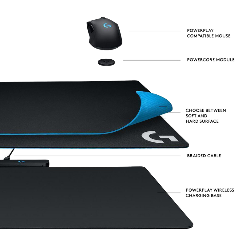 Tapis de souris Logitech Powerplay