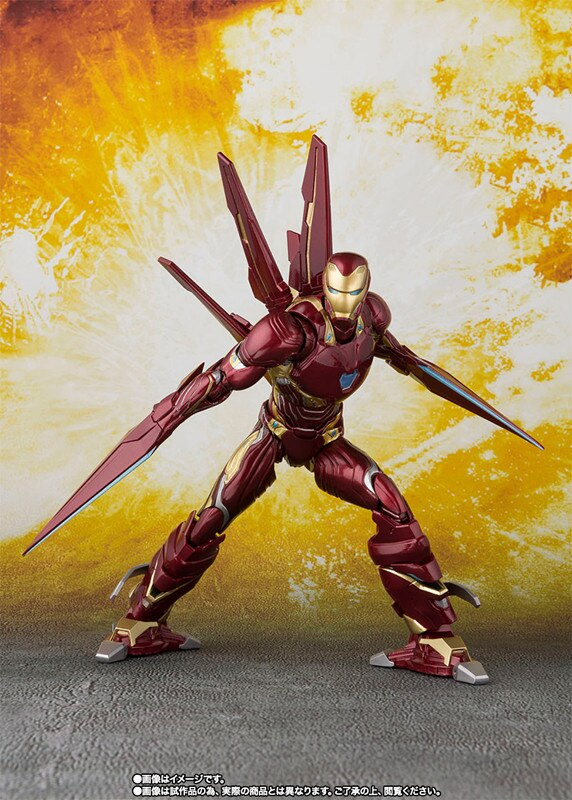 Figurine 100% Original BANDAI S.H.Figuarts - Iron Man MK Mark 50