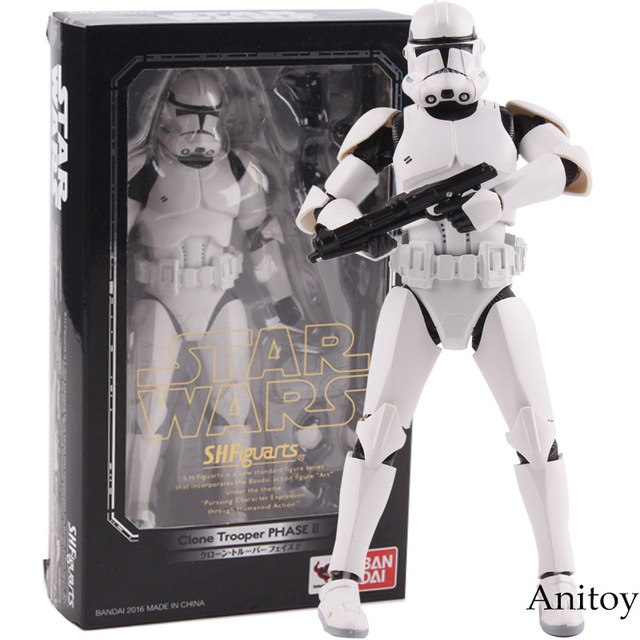 Figurine Articulée S.H.Figuarts - STAR WARS Storm Trooper PHASE II / PHASE I Captain