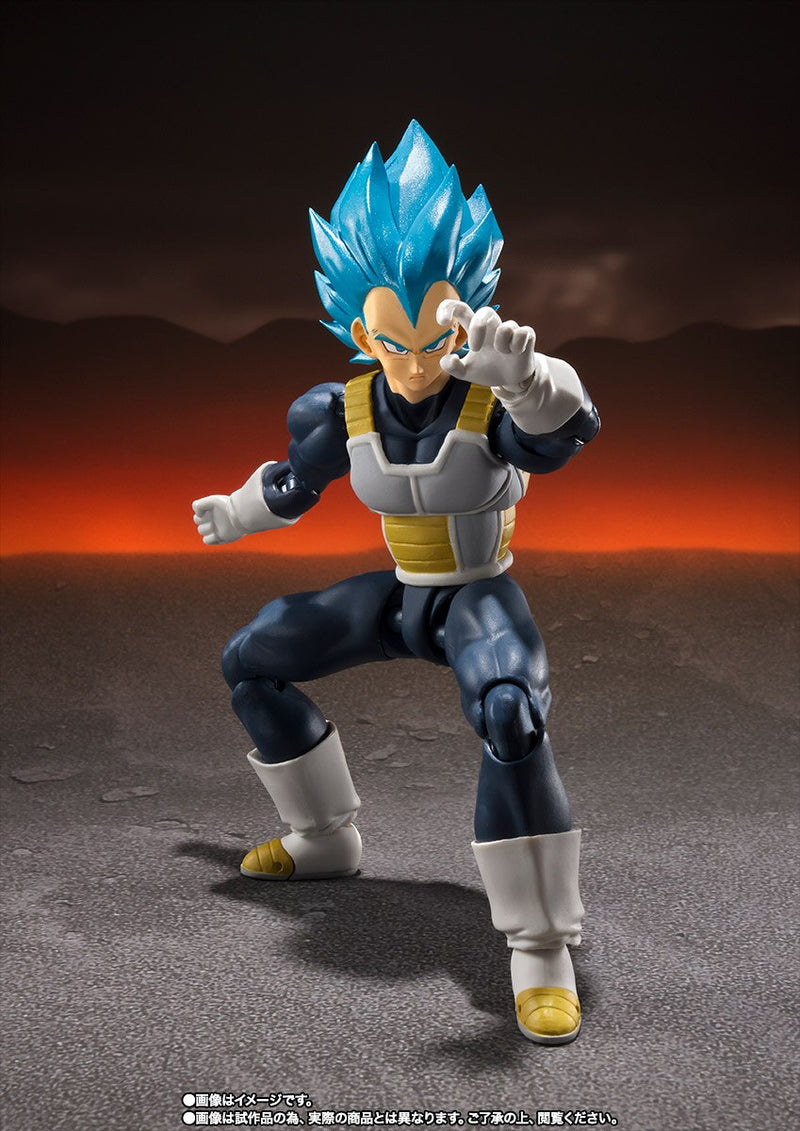 Figurine Original BANDAI - BANDAI Exclusive DragonBall Z Super Saiyan God Vegeta
