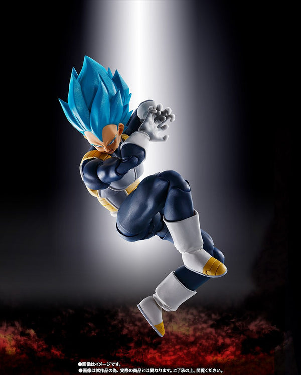 Figurine PrettyAngel - BANDAI Exclusive DragonBall Z Super Saiyan God Vegeta