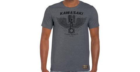 Kawasaki Heritage Piston/Wings T-Shirt
