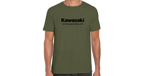 Kawasaki Let the good times roll T-Shirt, Military Green