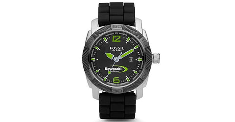 Kawasaki Team Green Fossil Watch