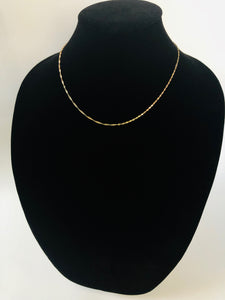Three Color Gold Rope Chain