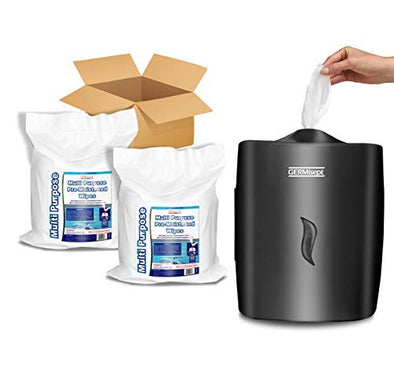 Germisept Multipurpose Gym & Wellness Center Cleaning Wipes Plus Wall Dispenser Combo