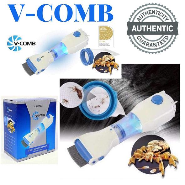 V-Comb - FDA Registered Allergy and Chemical Free Head Lice Treatment - Electric Head Lice Comb - Out Performs other Head Lice Combs and Lice Shampoo - Removes Lice and Eggs