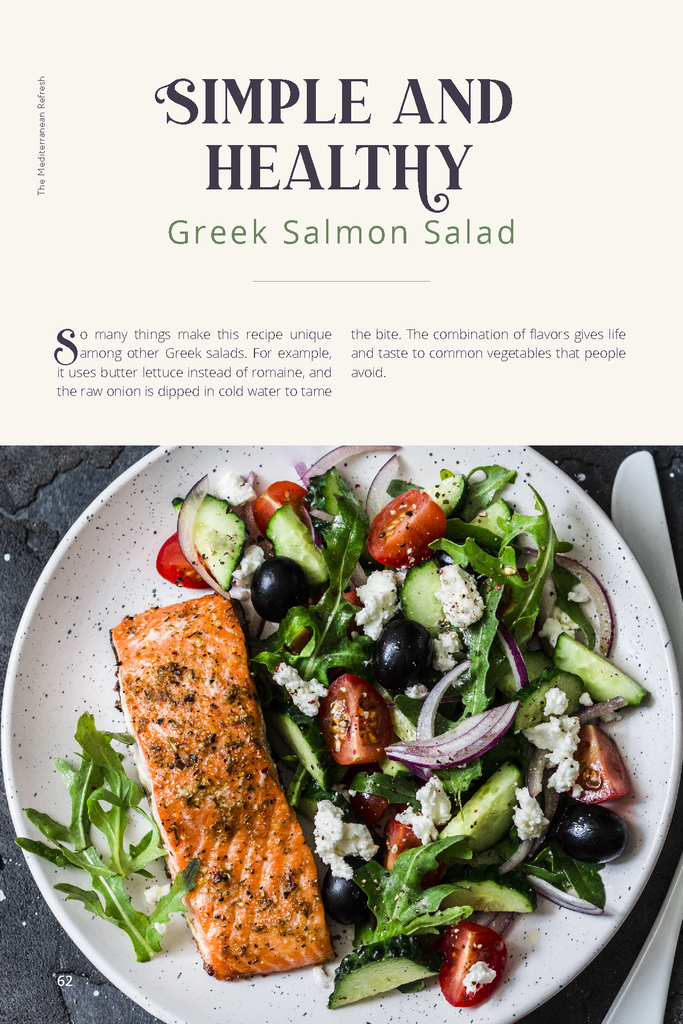 Healthy Greek Salmon Salad