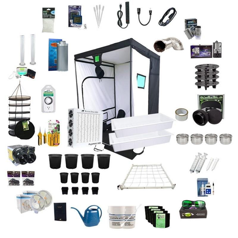 Black Dog LED 5' x 5' Complete LED Grow Tent Kit - Hydroponics Greenhouse