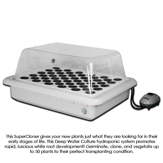 Clone Machine Grow Cabinet - Hydroponics Greenhouse