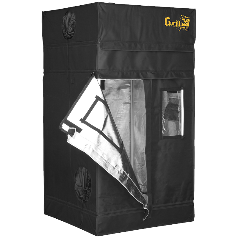 Gorilla Grow Tent Shorty 3' x 3' Indoor Grow Tent - Hydroponics Greenhouse