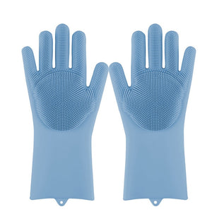 Open image in slideshow, 100% Food Grade Silicone Scrubber Gloves