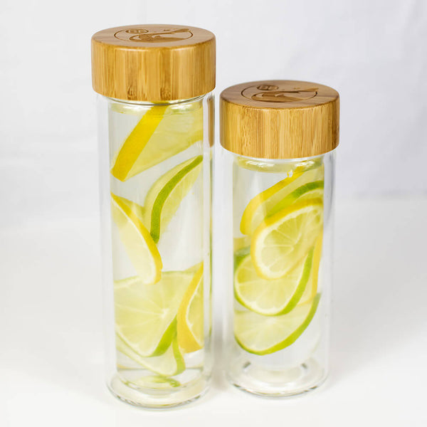 Blossom Glass Fruit and Tea Infuser Bottle - Blossom Bottles