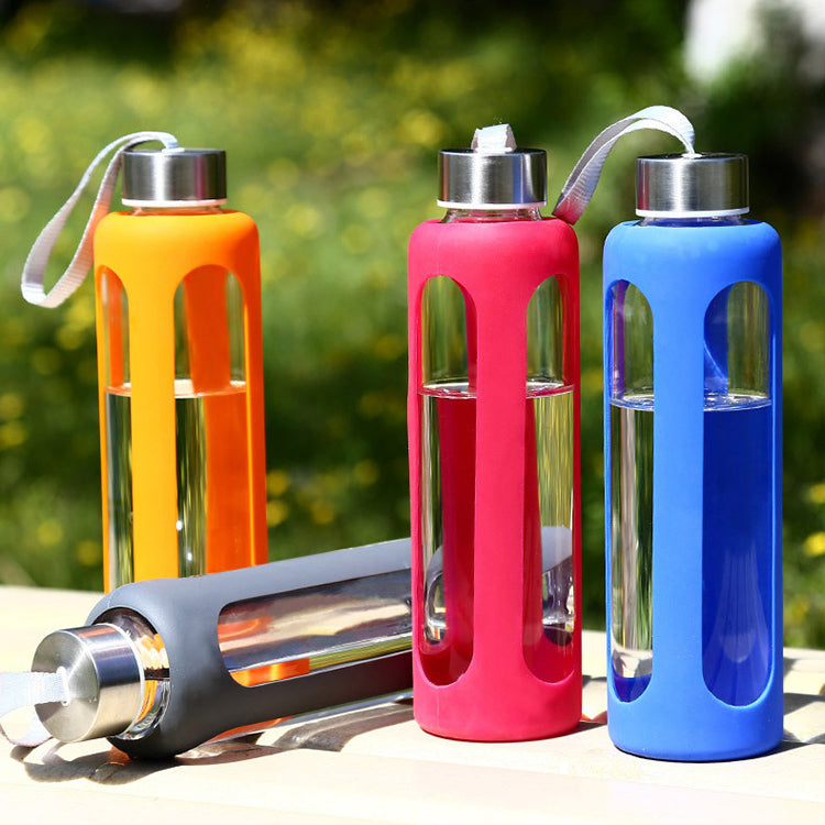 Step-It-Up Glass Water Bottle - Blossom Bottles