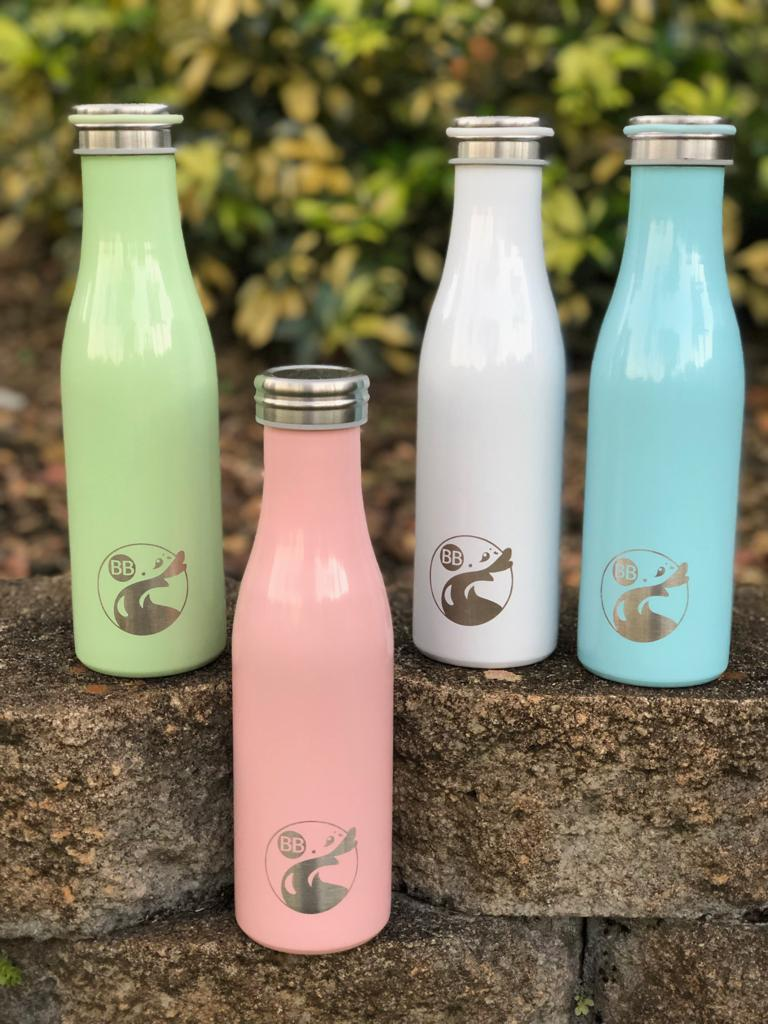 Pastel Thin Stainless Steel Flask - Blossom Bottles