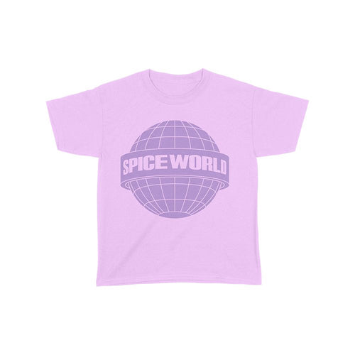 Pink Spice World Globe Logo Kids Tee