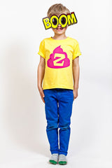ZUKIE Jr Never Mind The Zukie Skate T Yellow Pink