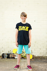 Kids G-Print T Black Yellow