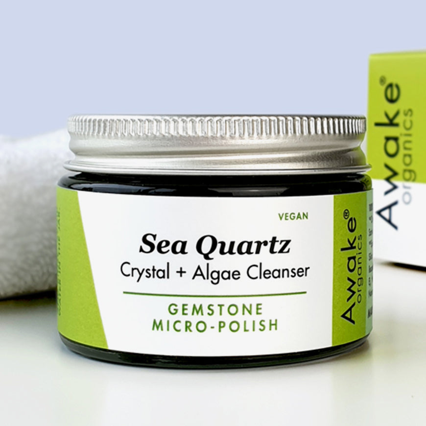 Sea Quartz Natural Vegan Cleanser, Deluxe Mini