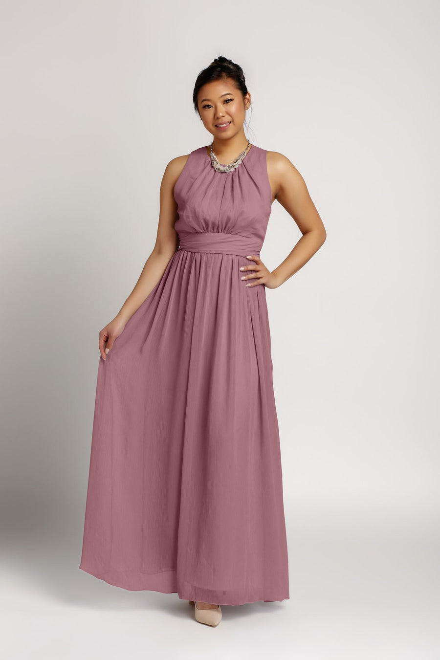 Bridesmaid Dresses - Jewel Floor Length Chiffon Bridesmaid Dress - BridesMade