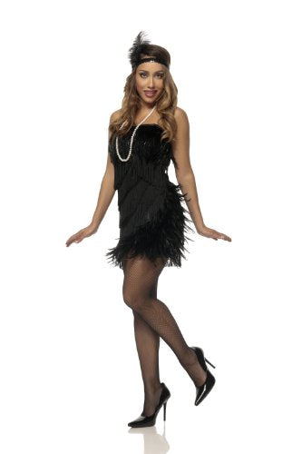 Mystery House Black Swan Flapper - F1360