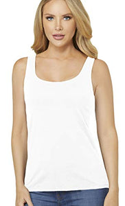 Alessandra B Wire-Free Molded Cup Cotton Tank Top - M8812