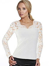 Load image into Gallery viewer, Alessandra B Underwire Bra Top with Lace Long Sleeve - M3156