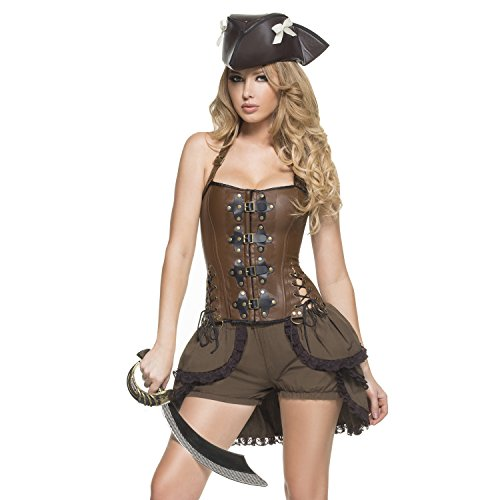 Mystery House Steampunk Pirate Deluxe Costume - M1430