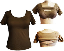 Load image into Gallery viewer, Alessandra B Short Sleeve Cotton Crew Neck Tee with Underwire Bra - M3046