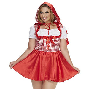 Mystery House Red Riding Hood Costume Plus Size -M1476W