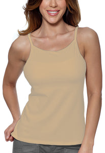 Alessandra B Underwire Bra High Neck Cotton Camisole -M3036