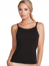 Load image into Gallery viewer, Alessandra B Lace Trim High Neck Camisole with Underwire Bra