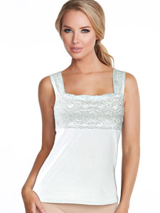 Alessandra B Square Neck Underwire Bra Cotton Camisole -M3152