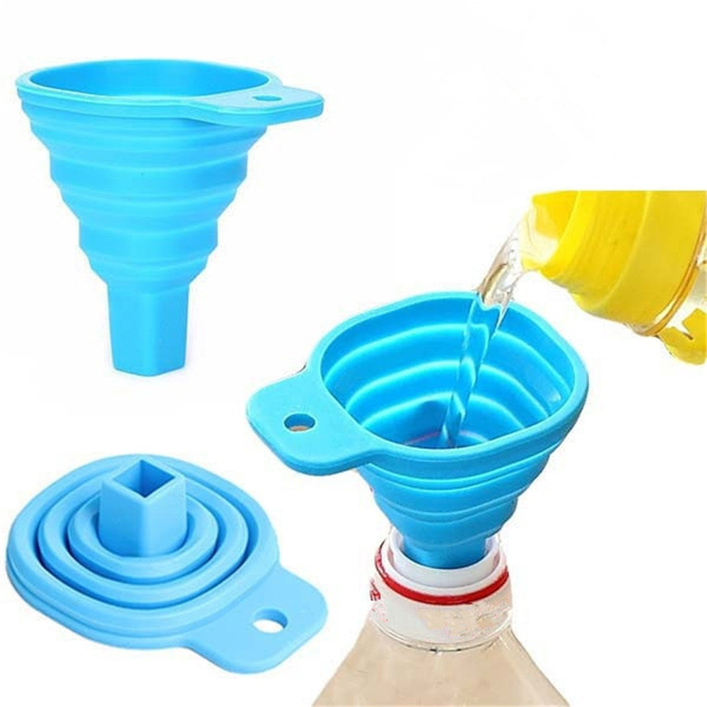 Portable Retractable Home Kitchen Funnel