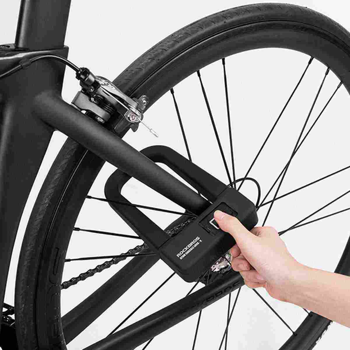 Anti-Theft Bike Motorcycle Fingerprint Lock