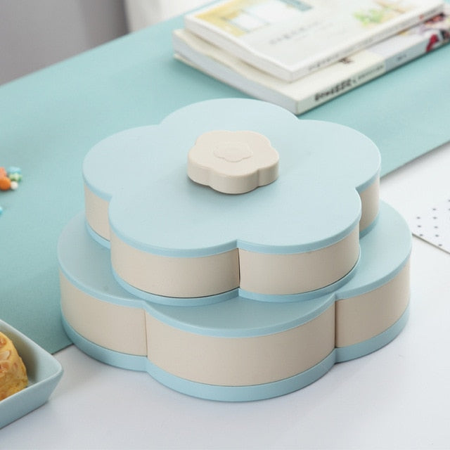 Rotating Snack Box Candy Tray Food Storage