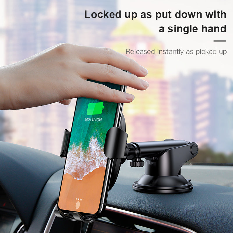 Wireless Fast Charging Car Phone Holder iOS Android