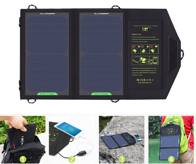 Portable Solar  Phone Battery