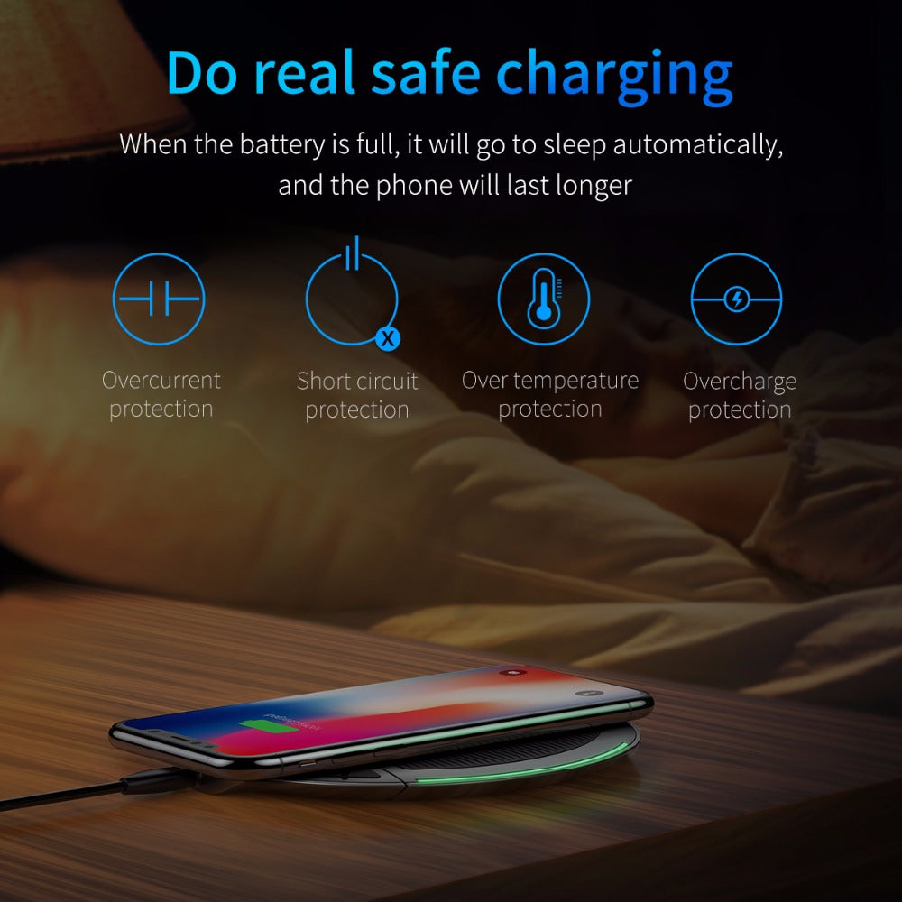 Collapsible Qi Wireless Charger for iPhone & Android