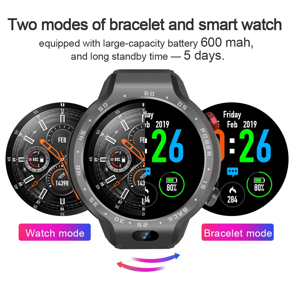 Dual Systems 4G Android Smart Watch