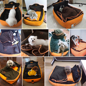 Completely Removable & Washable  Pet Cat Dog Bed