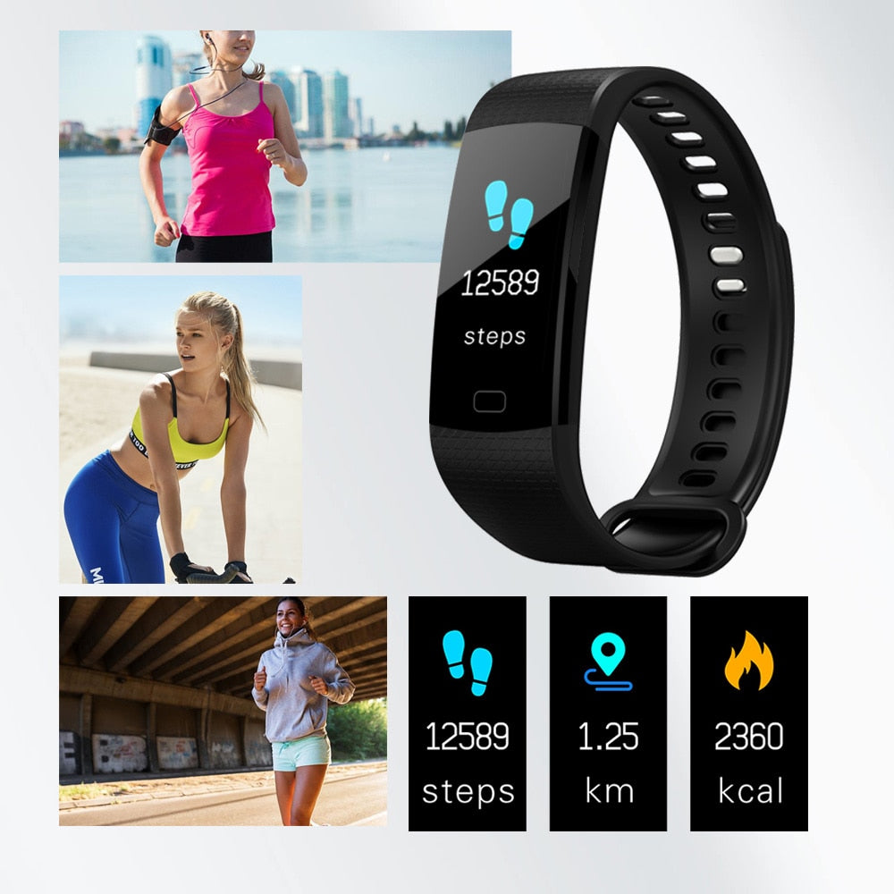 Y5 Smart Band Heart Rate Tracker Fitness Tracker Y5 Smartband Smart Bracelet Waterproof Smart Wristband Smart Watch Men
