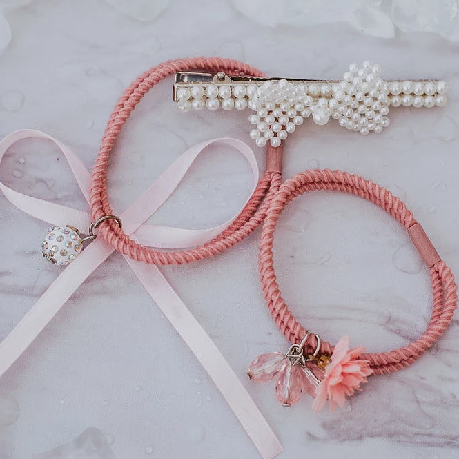 Hair Ties & Bows- The Pink Version