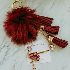 Fluffy Skating Keychain