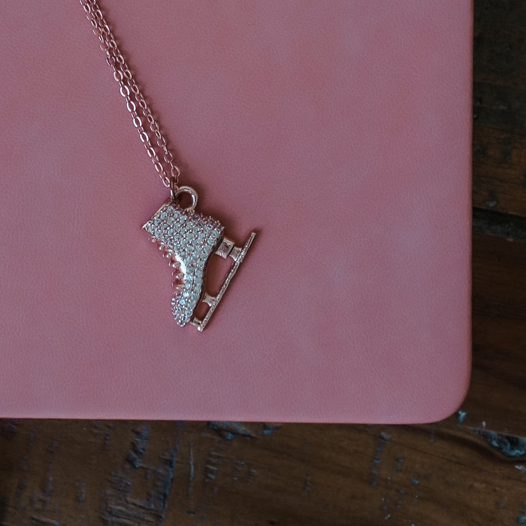Golden Skating Love Necklace
