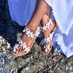 bridal sandals - wedding sandals flat