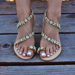 Catrine white sandals - pinkypromiseaccs