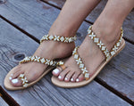 Catrine white wedding sandals