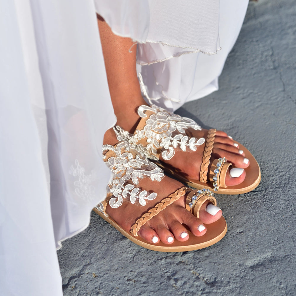 Aganippi sandals for brides